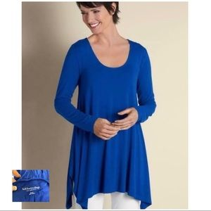SOFT SURROUNDINGS LN Blue Timely Scoop Neck Tunic